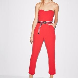 Red Express Strapless Jumpsuit sz 0 NWT